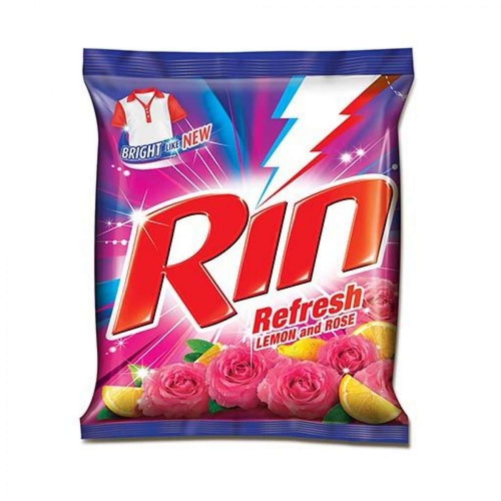 rin detergent Rin is a detergent brand with a range of products including washing powder, detergent bars and a clothes whitening liquid.